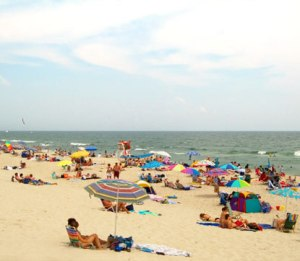 Beach at the Jersey Shore