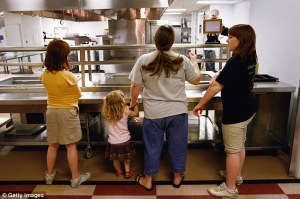 middle class family on food assistance