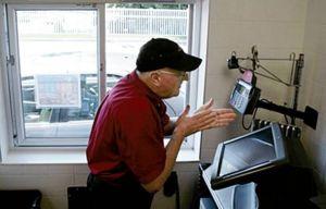senior citizen working at mc donalds