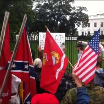 confederate flag waved at tea party rally