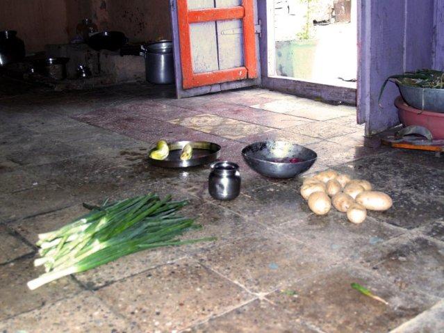 food on floor