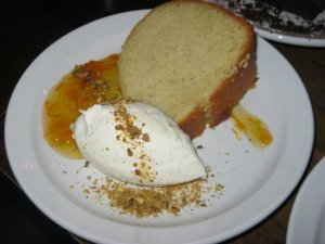 pound cake with whipped cream