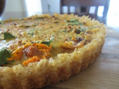 rice crust quiche two