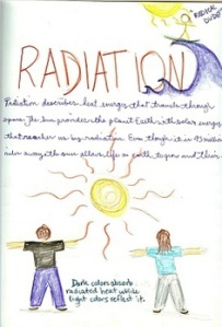 Waldorf eighth grade lesson book on radiation