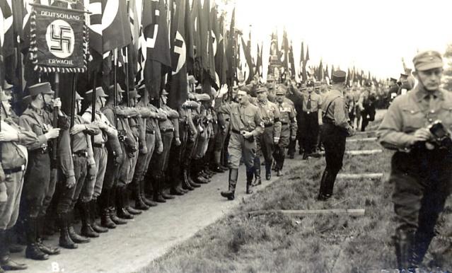 Hitler views the SS