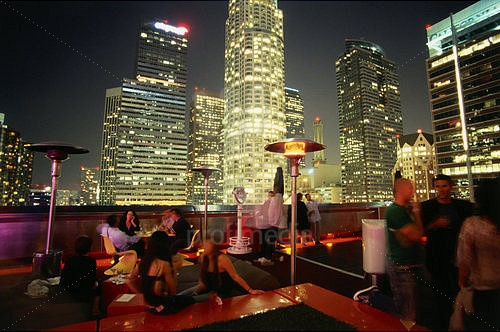 Rooftop Bar, Hotel The Standard, Downtown L.A., Los Angeles, California, USA