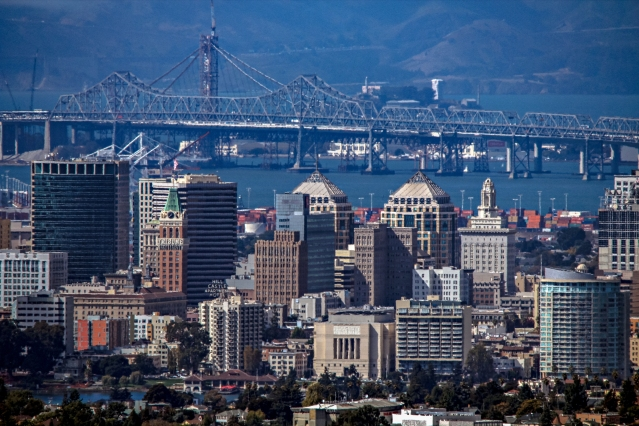 Oakland and the Bay Bridge